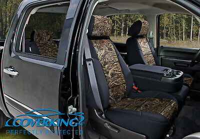 coverking camo realtree max 5 custom fit front seat covers for