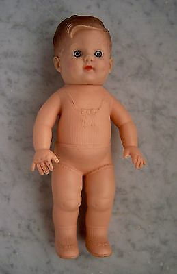 """VINTAGE 1950s EEGEE 9.5"""" BOY RUBBER DOLL~Molded Underwear, Shoes, Hair VGC"""