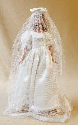 """Mattel Barbie in Wedding Dress with Long Train and Full-Length Veil, 12"""" T"""