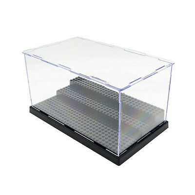 3 Step Base Plate Block Dustproof Toy Show Display Box Case ABS Transparent CD5