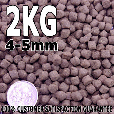 4-5mm Premium Bulk Cichlid Protein Fish Food Pellet Sink 2kg