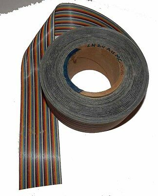 Alpha 50 Conductor 28 AWG Flat Ribbon Cable - 50 Foot Spool NOS