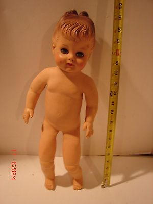 Vintage Eegee Doll Soft Body Vinyl 19 Inch Tall Eyes Open Close Lashes