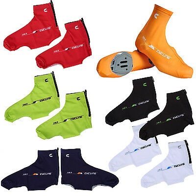 D6 cheji Bicycle Windproof Shoe Covers Zippered Overshoes Sportwear