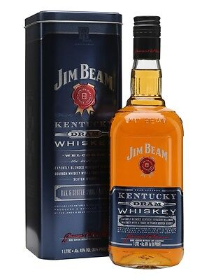 Jim Beam Dram Bourbon Whiskey 1 Litre 1L