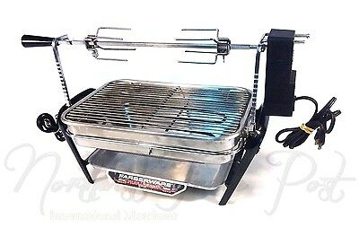 Farberware Stainless Steel Open Hearth Broiler Rotisserie Grill 450A with Motor