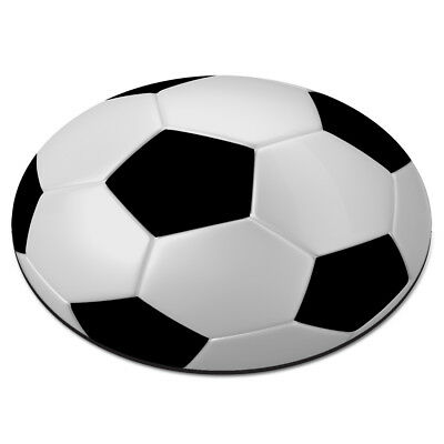 FOOTBALL BALL CIRCULAR PC COMPUTER MOUSE MAT PAD - Soccer Sport Funny Circle