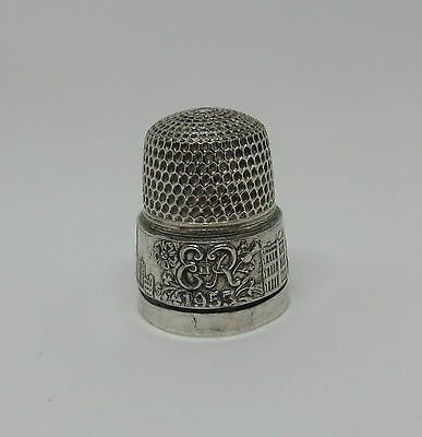 Hallmarked Silver Coronation Thimble 6 Js&s James Swann & Son - E Ii R 1953