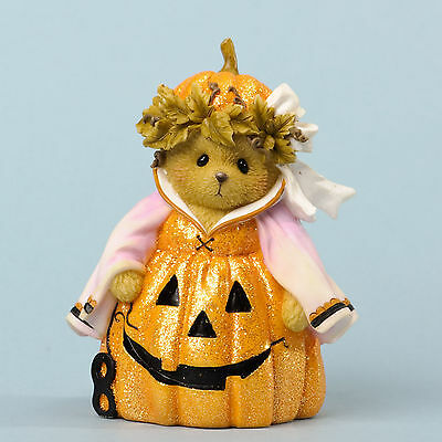 Cherished Teddies*HAPPY HAUNTING PUMPKIN BEAR*New*NIB*Boo Ball*HALLOWEEN*4034587