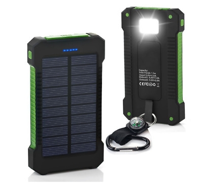 POWERNEWS 900000mAh 2 USB Portable Solar Battery Charger Solar Power Bank Phone