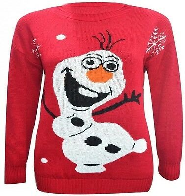 KIDS BOYS Girls KNITTED OLAF JUMPER CHRISTMAS XMAS TOP SWEATER