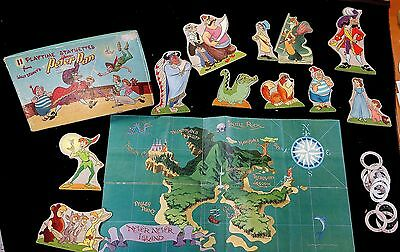 11 Playtime Statuettes from Disney - Peter Pan & Map of Never Never Island 1952