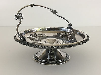 Antique silver plated brides basket, Wilcox Silver Plate Co. 1890's