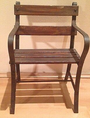 Miniature Iron/Wooden Display Bench!