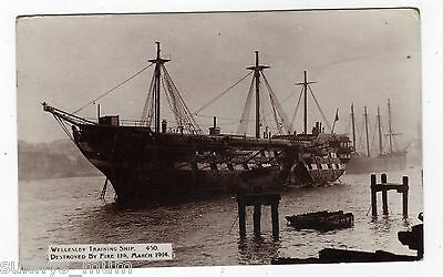 Shipping, Wellesley Training Ship, Destroyed By Fire In 1914, Rp