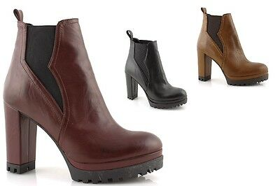 5eae8d8aa7c ANKLE BOOTS ANKLE Chiara Luciani woman black leather heel robust ...