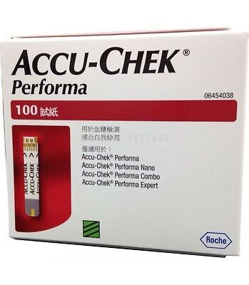 Accu-Chek Performa 100 Test Strips made in usa Exp: 31 January 2018