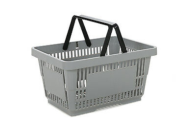 Hand Shopping Baskets GREY Plastic 22 Litre