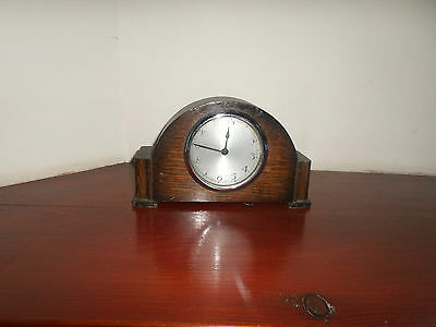Vintage Mantel Old Wood Clock - Not Working - Spares Or Reairs
