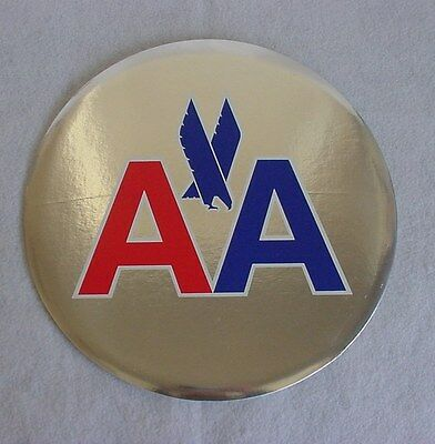 "Vintage American Airlines 12"" Corporate Logo Hanging Button Sign"