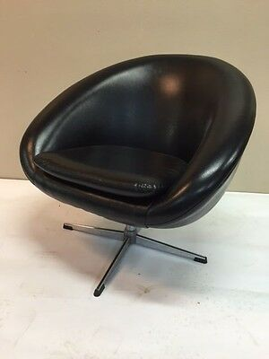20th Century Swedish Golf Ball Swivel Chair with Faux Leather Upholstery