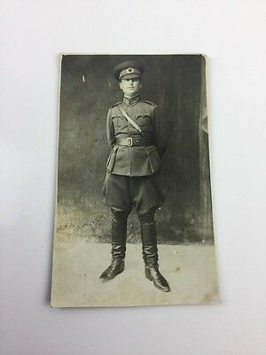 Wwi France Military Cartolina Postale Photo Postcard Of Soldier