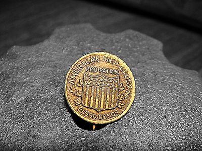 1800's Red Cross Pin Button Hole Pin Antique Movie Prop