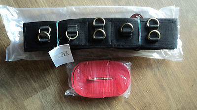 Horse Training Aid Lunge Roller And Lunge Line Set Webbing Roller And Red Lunge