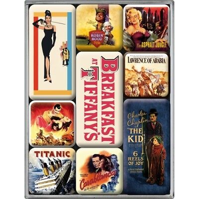 Nostalgic-Art Magnet-Set (9teilig) Movie-Art Retro