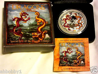 DRAGONS OF LEGEND - SPECIAL EDITION 2012 5OZ CHINESE DRAGON COIN (1000 Mintage)