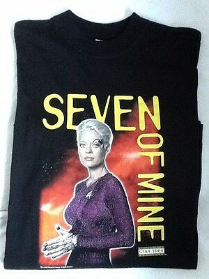 Official STAR TREK Voyager XL T-SHIRT 7of9 Fan Club Exclusive BRAND NEW 2000 VTG