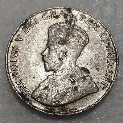 Canada 1924  Five 5 Cents Nickel George V Coin