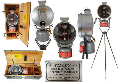 tilley lamp fl6  boxed  with tripod