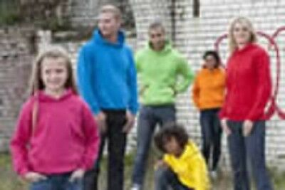 Hoodie Hooded Sweat Kids Youth Childrens 25 Colours 6 Sizes