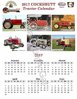 """New 2017 Cockshutt Tractor Laminated Calendar Size 8.5"""" X 11"""" 2 Sides"""