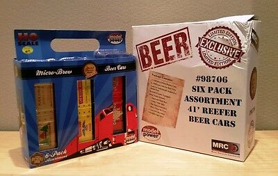 Model Power Mpn 98706 Ho Scale Rolling Stock 6 Pack-Beer Cars