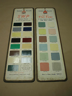 Vintage Paint Advertising Color Chip Sign- Sherwin Williams SWP House Paint
