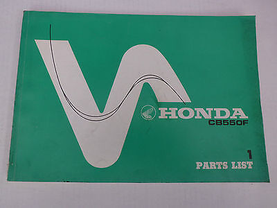 Honda Cb550F Cb550 F Genuine Parts Catalogue