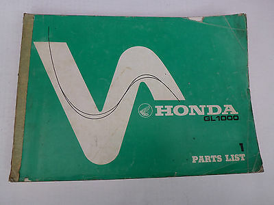 Honda Gl1000 Genuine Parts Catalogue 1975