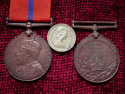 Replica Copy  EDVII Coronation (Police) Medal 1902  Full Size Aged