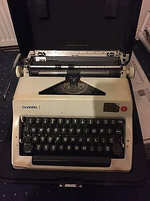 Vintage Olympia West German Typewriter With Case