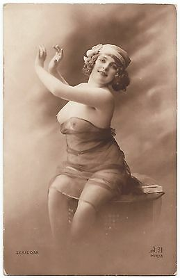 1910 Original French Erotic Rppc Nude Sexy Girl Fernande Jean Agelou
