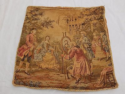 Vintage French Beautiful Scene Tapestry 45x45cm T721
