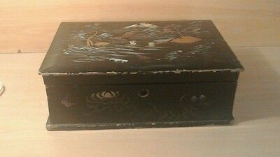 Vintage Japanese lacquered box.