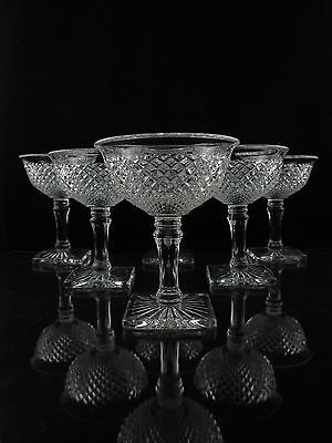 Westmoreland English Hobnail Champagne Glasses, Set of (6), Collectors Condition