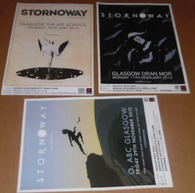 Stornoway posters - collection of 3 tour concert / gig poster