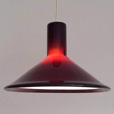Holmegaard glas ceiling lamp. Model P&T.designed in the 1970´s by Michael Bang.