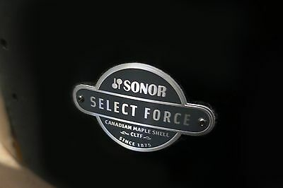 NEW Sonor Select Force 22 x 17 1/2 Maple Bass Drum, Piano Black Lacquer (Ascent)