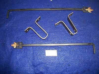 Vintage-Old - Antique - Cast Iron Swing A Way Drapery -Curtain Rods-