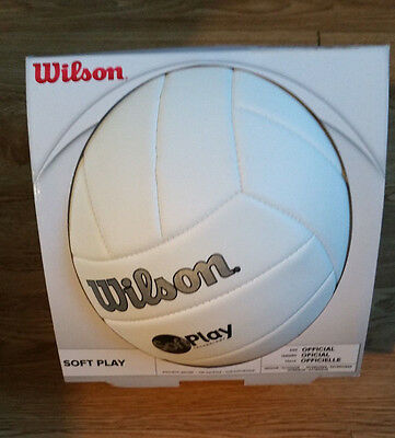 Wilson Outdoor WHITE Soft Play Volleyball WTH3500
